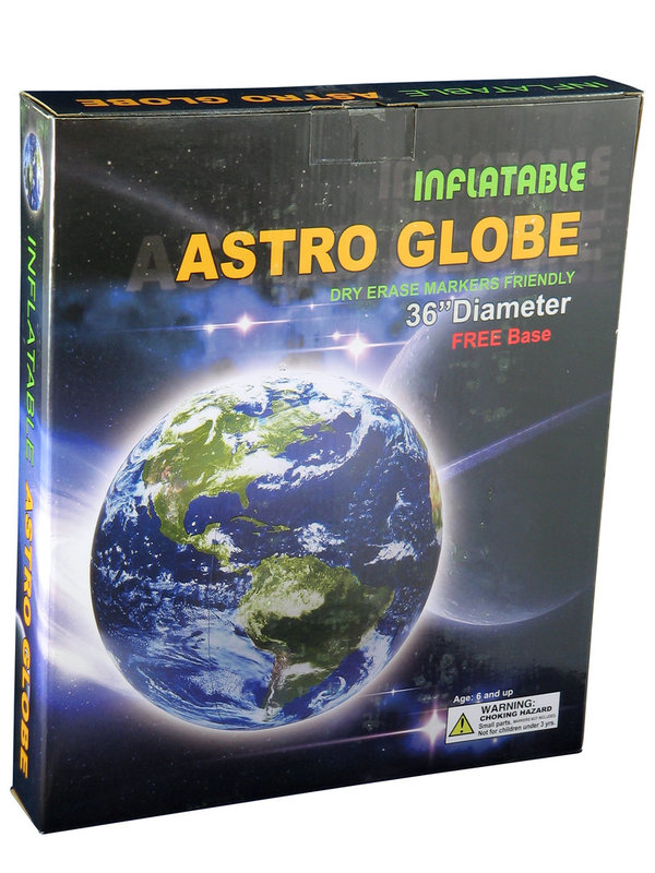 "Inflatable Astronaut View Globe 36"" / 90cm"