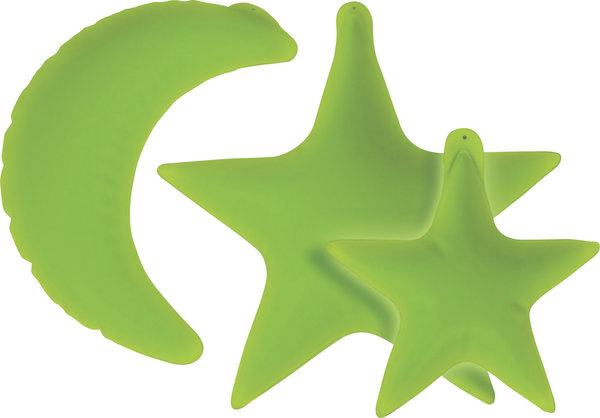 Inflatable Glow in the Dark Moon & Stars Decor Set