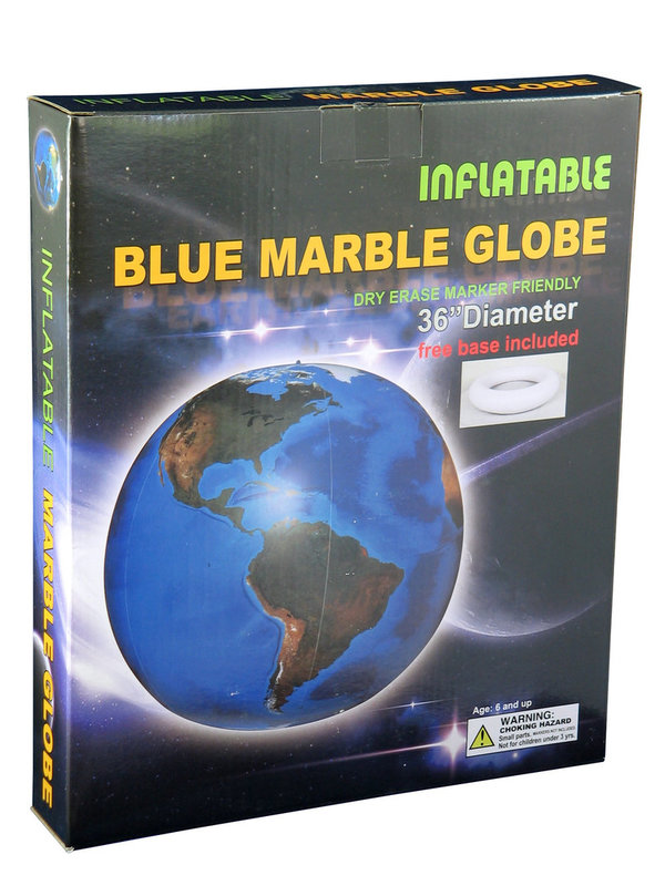 "Inflatable Earth the Blue Marble Globe 36"" / 90cm"