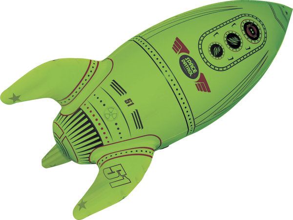 Inflatable Glow in the Dark Rocket Ship